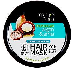 Parfüm, Parfüméria, kozmetikum Tápláló hajmaszk - Organic Shop Argan And Amla Hair Mask