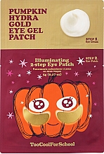 Parfüm, Parfüméria, kozmetikum Kétlépcsős hidrogél tapasz tök kivonattal és kolloid arannyal - Too Cool For School Pumpkin Hydra Gold Eye Gel Patch
