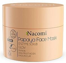 """Parfüm, Parfüméria, kozmetikum Hámlasztó maszk """"Fehér agyag"""" - Nacomi Papaya Face Mask Enzyme Scrub"""