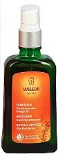Parfüm, Parfüméria, kozmetikum Tápláló homoktövis testápoló olaj-spray - Weleda Sanddorn Vitalisierendes Pflegeol Dispenser