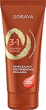 Parfüm, Parfüméria, kozmetikum Hidratáló napozó krém dióolajjal - Soraya 3w1 Express Bronze Walnut Tan Activator