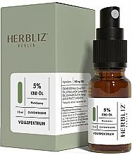 """Parfüm, Parfüméria, kozmetikum Olajos szájüreg spray """"Olíva"""" 5% - Herbliz CBD Olive Fresh Oil Mouth Spray 5%"""