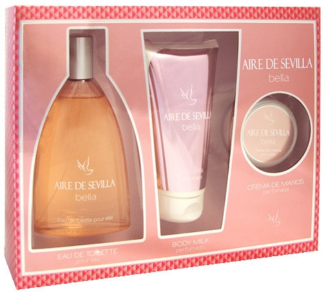 Instituto Español Aire de Sevilla Bella - Szett (edt/150ml + b/milk/150ml + hand/cr/50ml)