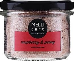 Parfüm, Parfüméria, kozmetikum Hámlasztó fürdősó - Melli Care Raspberry & Peony Scrubbing Bath Salt