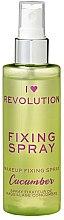 Parfüm, Parfüméria, kozmetikum Sminkfixáló spray - I Heart Revolution Fixing Spray Cucumber
