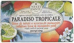 """Parfüm, Parfüméria, kozmetikum Szappan """"Lime és mangosztán"""" - Nesti Dante Paradiso Tropicale Tahitian Lime & Mosambi Peel Soap"""