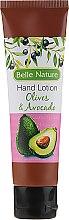 Parfüm, Parfüméria, kozmetikum Kézbalzsam-krém avokádó illattal - Belle Nature Hand Lotion Olives&Avocado