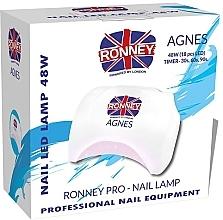 Parfüm, Parfüméria, kozmetikum Manikűr LED lámpa, fehér - Ronney Professional Agnes Pro LED 48W (GY-LED-032)