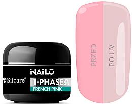 Parfüm, Parfüméria, kozmetikum Körömápoló gél - Silcare Nailo 1-Phase Gel UV French Pink