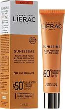 Parfüm, Parfüméria, kozmetikum Arc és dekoltázsápoló emulzió - Lierac Sunissime Fluide Protecteur Anti-Age SPF50+