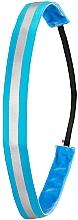 Parfüm, Parfüméria, kozmetikum Csúszásgátló hajpánt, neon vilűgoskék - Ivybands Neon Blue Reflective Hair Band