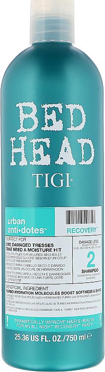 Hidratáló sampon száraz és sérült hajra - Tigi Bed Head Urban Anti+Dotes Recovery Shampoo — fotó N3