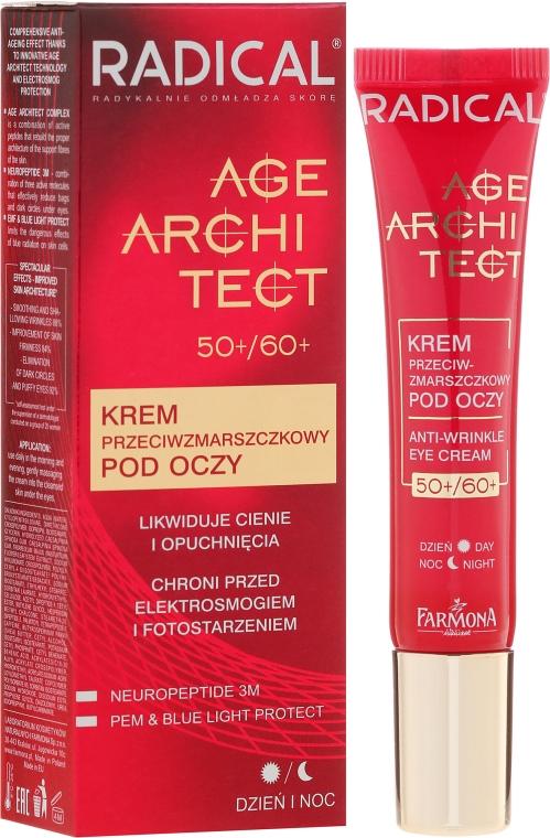 Szem alatti karikák elleni és ránctalanító krém - Farmona Radical Age Architect Anti Wrinkle Eye Cream 60+