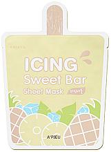 "Parfüm, Parfüméria, kozmetikum Anyagmaszk ""Hűsítő ananász"" - A'pieu Icing Sweet Bar Sheet Mask"