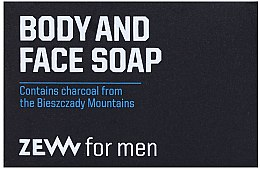 Parfüm, Parfüméria, kozmetikum Szilárd szappan - Zew For Men Body And Face Soap