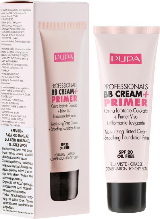 Hidratáló és bőrfeszesítő hatású sminkalap - Pupa BB Cream + Primer For Combination To Oily Skin
