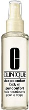 Parfüm, Parfüméria, kozmetikum Testápoló olaj intenzíven tápláló - Clinique Deep Comfort Body Oil