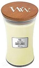 Parfüm, Parfüméria, kozmetikum Aroma gyertya - WoodWick Hourglass Candle Fig Leaf and Tuberose