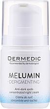 Parfüm, Parfüméria, kozmetikum Éjszakai krém pigmentfoltok ellen - Dermedic MeLumin Depigmenting Night Cream