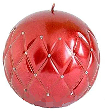"Parfüm, Parfüméria, kozmetikum Dekoratív gyertya ""Lakkozott labda"", piros, 10 cm - Artman Florence"