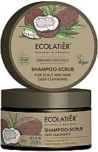"""Parfüm, Parfüméria, kozmetikum Sampon-peeling """"Mélytisztítás"""" - Ecolatier Organic Coconut Shampoo-Scrub"""