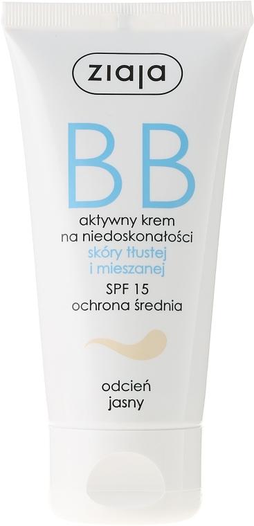 BB krém zsíros és kombinált bőrre - Ziaja BB-Cream SPF 15