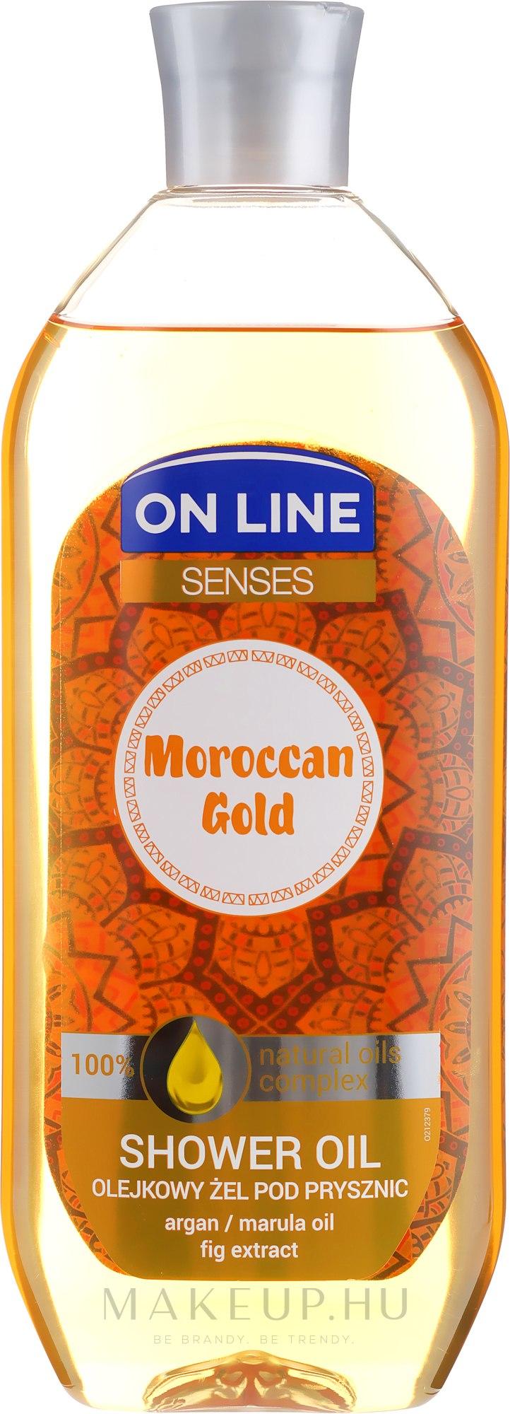 Tusfürdő olaj - On Line Senses Shower Oil Moroccan Gold — fotó 500 ml