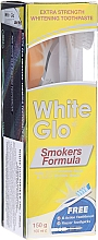 "Parfüm, Parfüméria, kozmetikum Szett ""Cigizőknek"", salátazöld fogkefe - White Glo Smokers Formula Whitening Toothpaste (t/paste 100 ml + t/brush + toothpicks)"