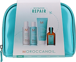 Parfüm, Parfüméria, kozmetikum Szett - MoroccanOil Repair Kit (shmp/70ml + cond/70ml + cr/75ml + oil/25ml + bag)