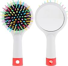 Parfüm, Parfüméria, kozmetikum Hajkefe tükörrel, szürke - Twish Handy Hair Brush with Mirror Light Grey