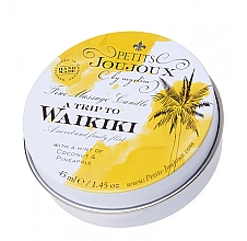 Parfüm, Parfüméria, kozmetikum Masszázsgyertya Pina colada aromával - Petits JouJoux Mini A Trip To Waikiki