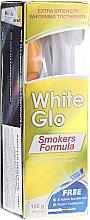 Parfüm, Parfüméria, kozmetikum Szett világoskék kefével - White Glo Smokers Formula (toothpaste/100ml + toothbrush + toothpicks)