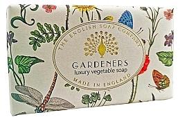 Parfüm, Parfüméria, kozmetikum Szappan-radír - The English Soap Company Vintage Collection Gardeners Exfoliating Soap