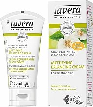 """Parfüm, Parfüméria, kozmetikum Arcápoló krém """"Zöld tea"""" - Lavera Mattifying Balancing Cream Green Tea"""
