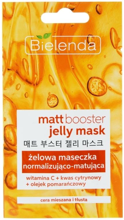 Mattító gél és maszk zsíros és kombinált bőrre - Bielenda Matt Booster Jelly Mask