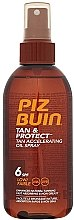 Parfüm, Parfüméria, kozmetikum Napvédő barnító olaj - Piz Buin Tan&Protect Tan Accelerating Oil Spray SPF6