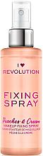 Parfüm, Parfüméria, kozmetikum Sminkfixáló spray - I Heart Revolution Fixing Spray Peaches & Cream