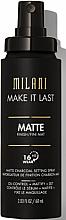 Parfüm, Parfüméria, kozmetikum Primer spray - Milani Make It Last Matte Charcoal Setting Spray