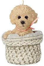 Parfüm, Parfüméria, kozmetikum Illatosított gyertya, 11,5x17 cm, bézs kutya - Artman Dog