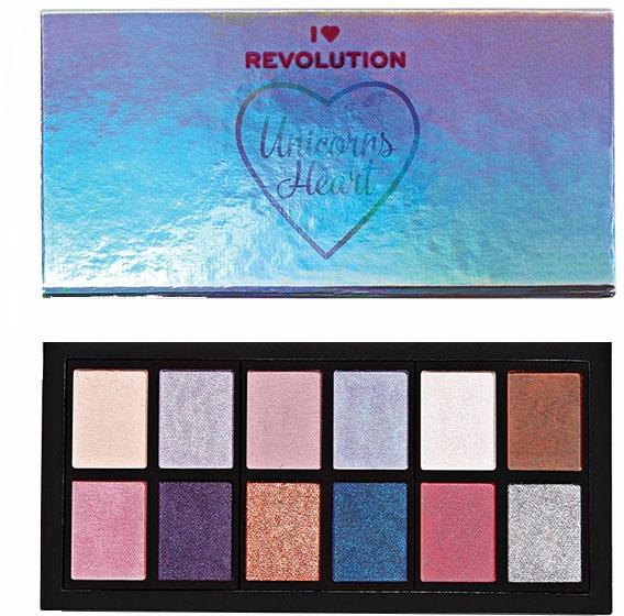 Szemhéjfesték paletta - I Heart Revolution Unicorns Heart Eyeshadow Palette