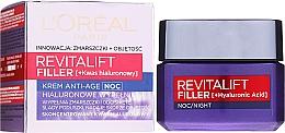 Parfüm, Parfüméria, kozmetikum Ránctalanító éjszakai krém - L'Oreal Paris Revitalift Filler Hyaluronic Acid Night Cream