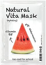 """Parfüm, Parfüméria, kozmetikum Hidratáló szövetmaszk """"Görögdinnye"""" B5-vitaminnal - Too Cool For School Natural Vita Mask Hydrating"""