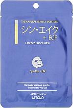 """Parfüm, Parfüméria, kozmetikum Szövet arcmaszk """"Kígyó peptid + EGF"""" - Mitomo Essence Sheet Mask Syn-Ake + EGF"""