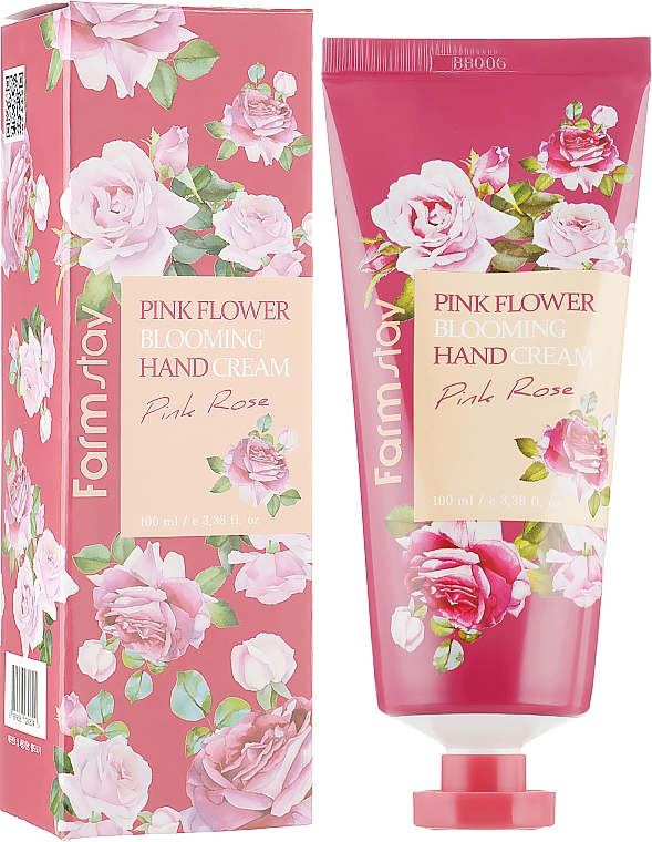Kézkrém rózsa kivonattal - FarmStay Pink Flower Blooming Hand Cream Pink Rose
