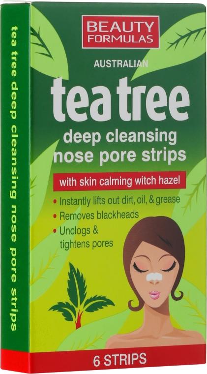 Pórustisztító tapasz orra - Beauty Formulas Tea Tree Deep Cleansing Nose Pore Strips