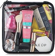 """Parfüm, Parfüméria, kozmetikum Neszeszer, átlátszó """"Visible Bag"""" (kozmetikumok nélkül) 20x20x8cm - MakeUp"""