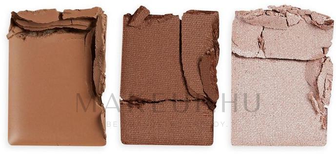 Szemöldök szett - Makeup Revolution Brow Sculpt Kit — fotó Brown