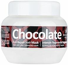 Parfüm, Parfüméria, kozmetikum Maszk száraz és sérült hajra - Kallos Cosmetics Chocolate Mask