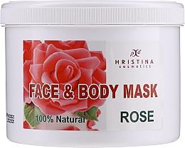 """Parfüm, Parfüméria, kozmetikum Maszk testre és arcra """"Rózsa"""" - Hristina Cosmetics Rose Face & Body Mask"""
