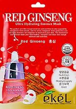 Parfüm, Parfüméria, kozmetikum Szövetmaszk vörös ginzeng kivonattal - Ekel Red Ging Seng Ultra Hydrating Essence Mask